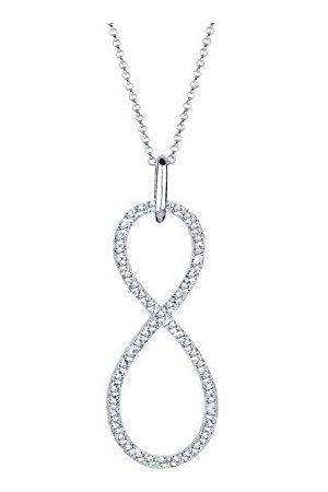 Elli Dames. .925 Sterling Silber Brillantschliff kristal