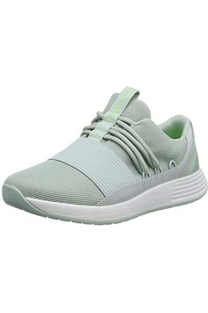 Under Armour Women's Breathe Lace Glitz Low Top Sneakers, Green Atlas Green White Lime Light 300 300, 8.5 UK