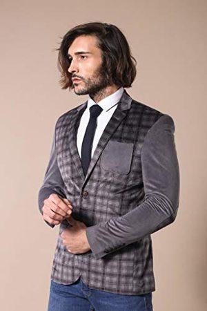 Wessi Business Suit Jacket, geruite borst, fluweel met normale mouwen, voor heren