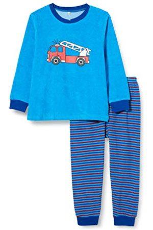 Playshoes Tweedelige jongenspyjama van badstof, brandweer