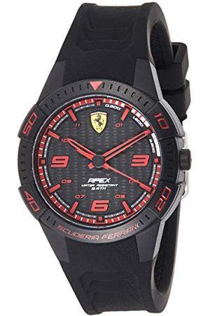 Scuderia Ferrari Heren analoog quartz horloge met siliconen band 0840032