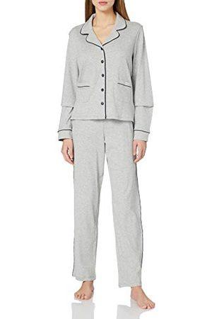 Seidensticker Zijdesticker dames interlock doorgeknopen pyjama lang pyjamaset