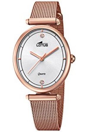 Lotus Womens analoge klassieke quartz horloge met roestvrij stalen band 18450/1
