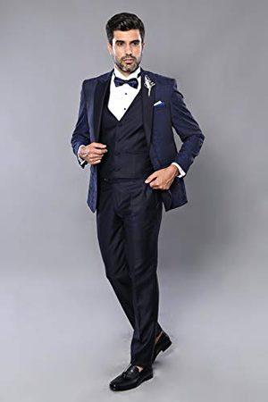 Wessi Smoking Tuxedo, slimfit vest voor heren, met patroon