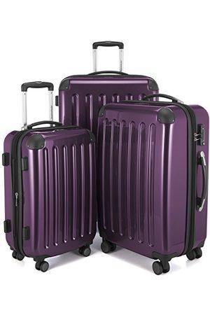 Hauptstadtkoffer Alex 3-delige kofferset 4 dubbele wielen, trolley-set, uitbreidbare reiskoffer, TSA, (S, M & L), aubergine