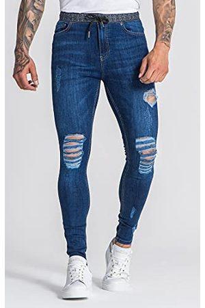 Gianni Kavanagh Dark Blue Core Skinny Jeans met Gk Elastic Heren