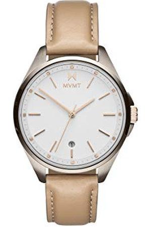 MVMT Dames analoog kwarts horloge met kalfsleer lederen armband 28000023-D