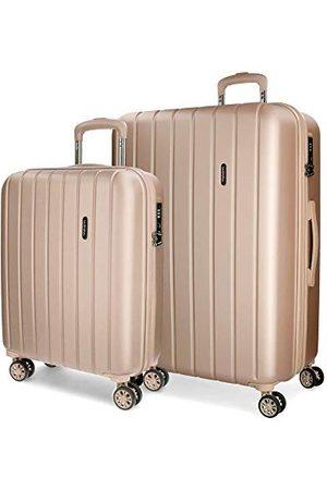 MOVOM Movon Wood koffer, Uitbreidbare set met 2 koffers, champagne - 5318965
