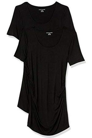 Amazon Zwangerschaps 2-pack korte mouw Rouched Scoopneck T-shirt, /