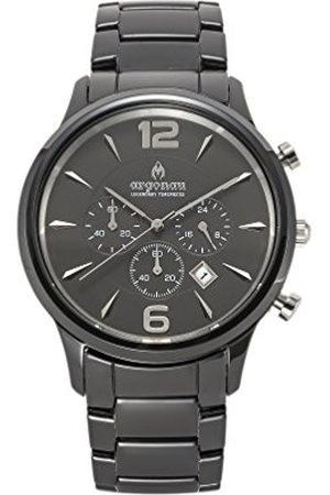 Argonau Unisex volwassen analoge klassieke quartz horloge met keramische band Au1002