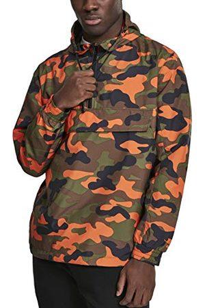 Urban classics Camouflage Windbreaker Overtrekjas voor heren, camo pull-overjas, overgangsjas met capuchon