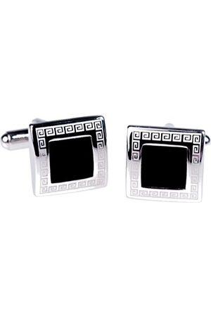 Póssum 11001 manchetknopen zilver (zilver/zwart 011), één maat (fabrikantmaat: One Size) voor heren
