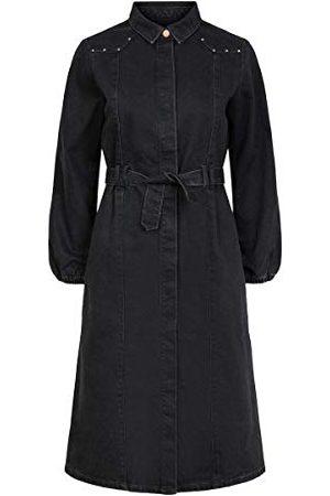 Pieces Dames Pcrosie Ls Midi Stud Dress-vi Bc jurk