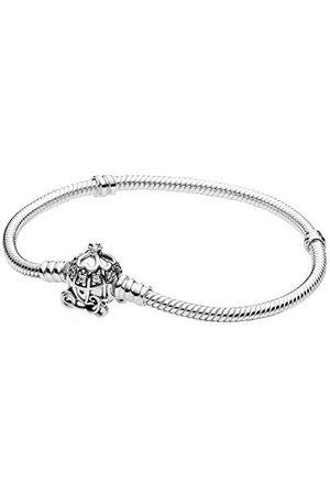 PANDORA Disney Cinderella Pompoen Koekjessluiting armband sterling 23 cm