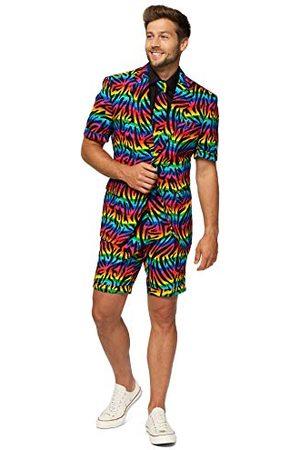 OppoSuits Mens zomer pakken in verschillende prints - inclusief shorts, korte mouwen jas & stropdas