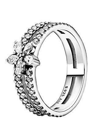 PANDORA Fonkelende sneeuwvlok dubbele ring sterling 52