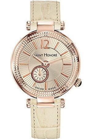 Saint Honore Dames analoog kwarts horloge met lederen armband 7620218BGFIR