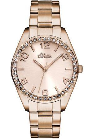 s.Oliver SO-2903-MQ, Dames Kwarts Horloge, Rosé , 30mm