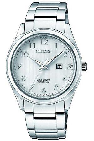 Citizen Dames datum klassiek zonne-horloge met titanium armband EW2470-87A