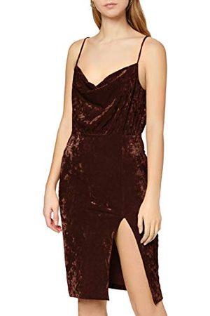 Ivy Revel Dames midi fluwelen jurk