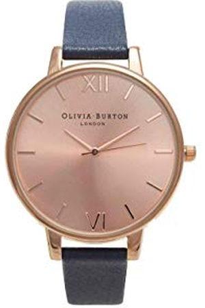 Olivia Burton Dames analoog kwarts horloge met lederen armband OB13BD13B