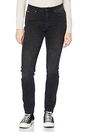 Lee Cooper Dames Fran Slim Fit jeans, donkergrijs, standaard