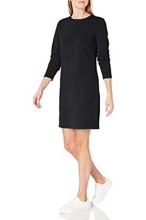 Amazon Vrouwen ronde hals lange mouwen Franse Terry Fleece boven-de-knie jurk, ,L-XL