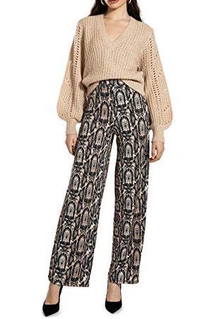 Ivy Revel Damesbroek Shiny Wide Leg Pants