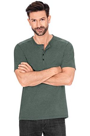 Trigema T-shirt met lange knoopsluiting.