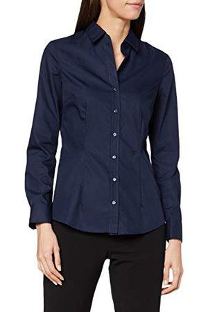 Seidensticker Damesblouse - strijkvrije, smal getailleerde hemdblouse - slim fit - hemdblouse - hemdblousekraag - lange mouwen - 100% katoen