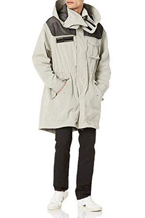 Armani Heren London Fog/Black Allover Trenchcoat
