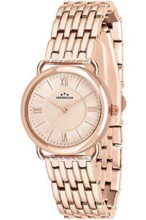 Chronostar Dames analoog kwarts horloge met roestvrij stalen armband R3753274502