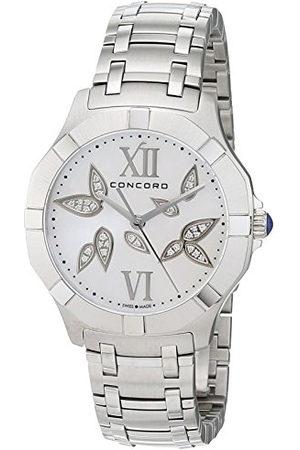 CONCORD Womens analoge klassieke quartz horloge met roestvrij stalen band 320302