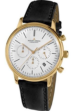 Jacques Lemans N-209ZE Analoog Kwarts horloge met lederen armband