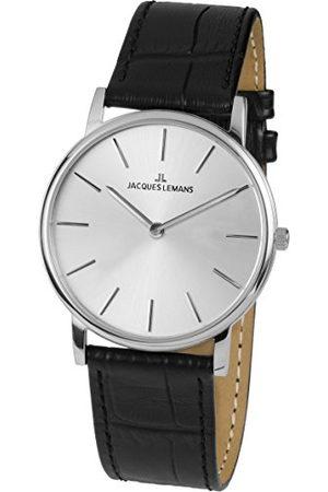 Jacques Lemans Dames analoog kwarts horloge met lederen armband 1-1849A