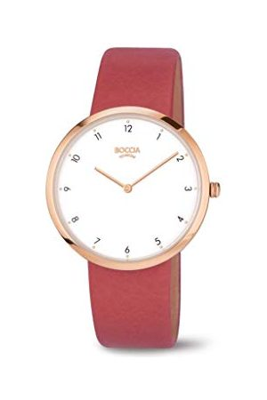 Boccia Analoog kwartshorloge voor dames met echt lederen armband 3309-05