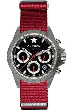 Oxygen Uniseks polshorloge SPRINT 42 chronograaf kwarts nylon EX-C-SPR-42-NN-RE