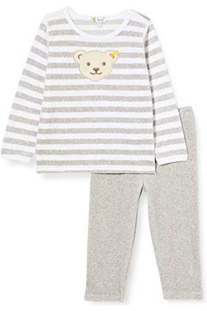Steiff Unisex Baby Soft Grey Melange pyjama voor kleine kinderen