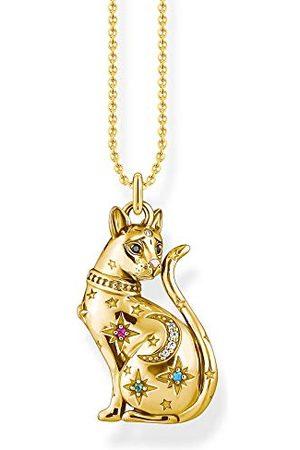 Thomas Sabo Dames halsketting kat sterrenbeeld 925 sterling zilver, lengte 38-42 cm