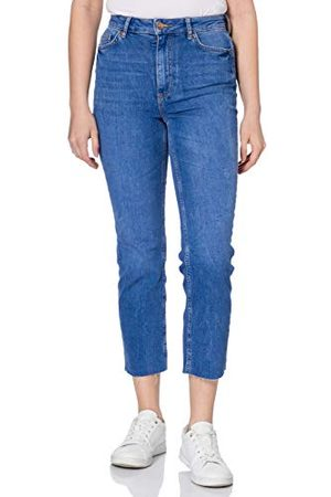 PIECES Pcdelly Hw Straight Electric Blue Bc Jeans voor dames