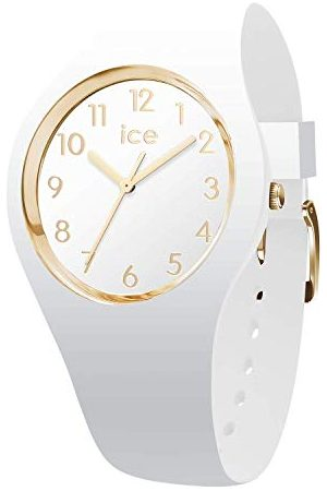 Ice-Watch ICE glam White Gold Numbers - dameshorloge met siliconen armband - 014759 (Maat S)