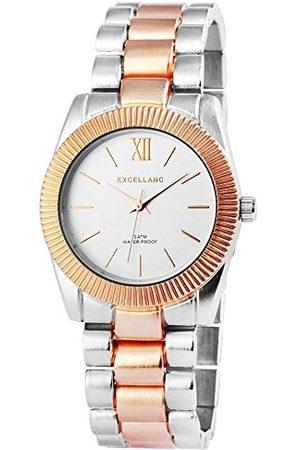 Excellanc Dames analoog kwarts horloge met verschillende materialen armband 150841500032