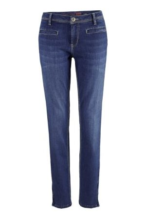 H.I.S Jeans dames jeans Tessa, HIS-131-10-434 Skinny/Slim Fit (groen) normale band