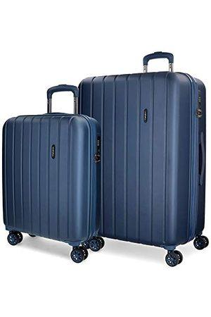 MOVOM Movon Wood koffer, Uitbreidbare set met 2 koffers, marineblauw - 5318964