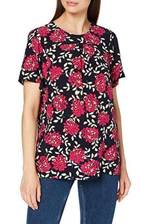 Seidensticker Damesblouse - Fashion Blouse - Shirtblouse - Ronde hals - Regular Fit - Korte mouwen - 100% viscose