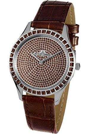 Jacques Lemans Dames multi-wijzerplaat kwarts horloge met lederen armband 1-1841ZG