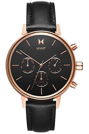 MVMT Dames multiwijzerplaat kwarts horloge met lederen armband D-FC01-RGBL
