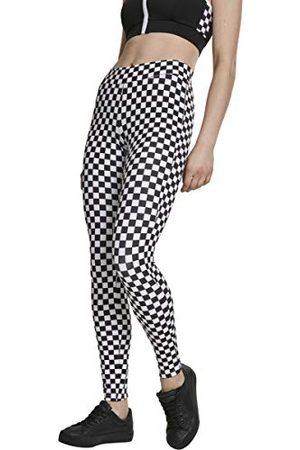 Urban classics Dameslegging met schaakbordpatroon, lange streetwear- & sportbroek check patroon, yoga-fitnessbroek.