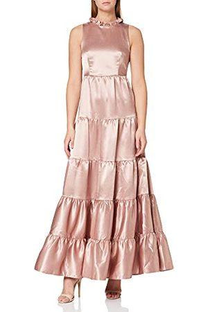 Amelia Rose Dames Maxi jurk met hoge hals bruidsmeisje