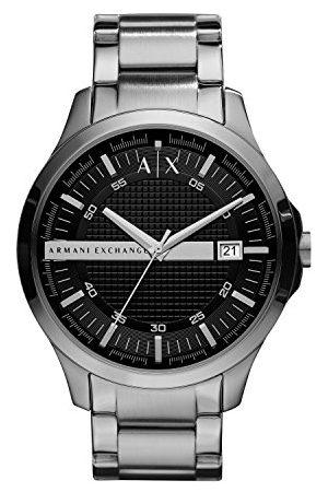 Armani Heren analoog kwarts horloge met roestvrij stalen armband AX2103